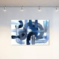 Oliver Gal  More Than Hope  Abstract Wall Art Canvas Print Paint   Blue  White  Retail 194 49