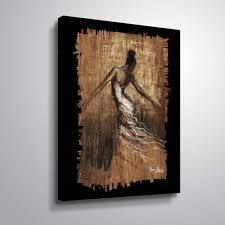 Graceful Motion III Gallery Wrapped Canvas