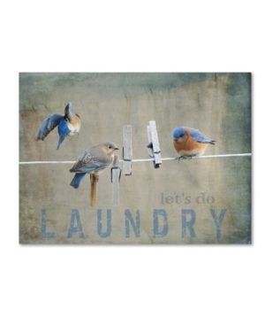 Jai Johnson  laundry Day Bluebirds  Canvas Art