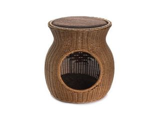 Hand Woven Two level Rattan Wicker Metal Frame Pet Bed Condo for Cats or Small Dogs  Retail 95 99