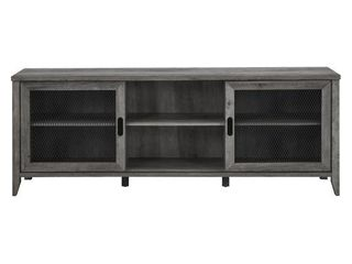 The Gray Barn 70 inch Sliding Mesh Door TV Stand Console  Retail 287 49