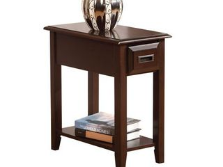 Flin Dark Cherry Side Table  Retail 105 49