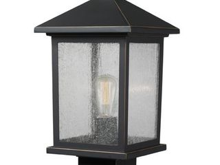 Avery Home lighting Portland 1 light Black Post light  Retail 156 00
