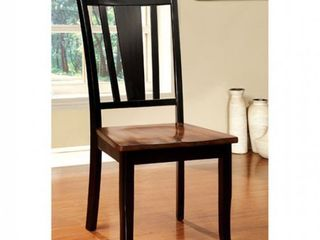 furniture of America side chairs wooden seat 2 pc