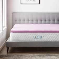 lucid Comfort Collection lavender Memory Foam Mattress Topper  Retail 89 45