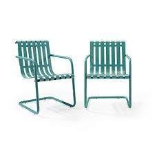 crowley furniture light blue stainless steel lawn chairs 2 pc