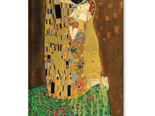 Gustav Klimt  The Kiss  Gallery Wrapped Canvas