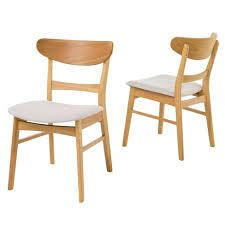 Idalia Mid Century Modern Dining Chairs 2 pc Christopher Knight Home light beige