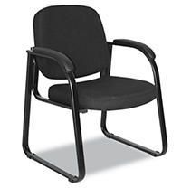 Alera Reception lounge Series Sled Base Guest Chair  Black Fabric   24 63 x 26 63 x 34  Retail 172 49