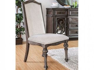 The Gray Barn Cornerways Rustic Ivory Fabric Arm Chairs  Set of 2  Retail 424 99