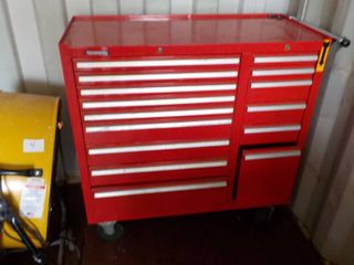 15 drawer metal tool chest with key...