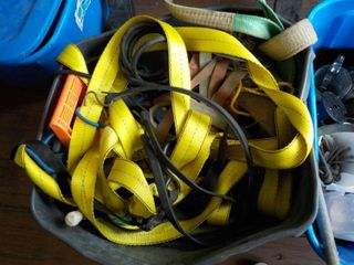 tote of straps and bungies...