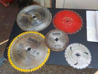 5 saw blades...