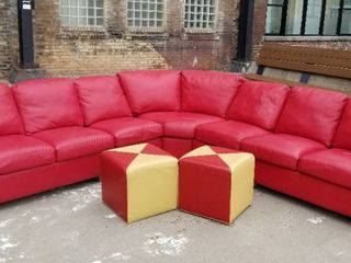 American Leather Curved Sectional by Sofa and Chairs