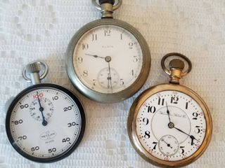 Antique Railroad Pocket Watches (as) ~ Lot of 2