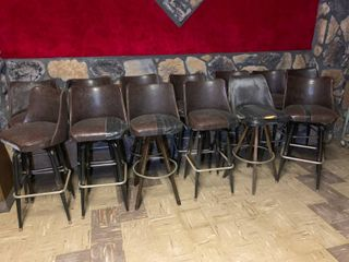 Lot of 13 High Top Chairs (seat height 30