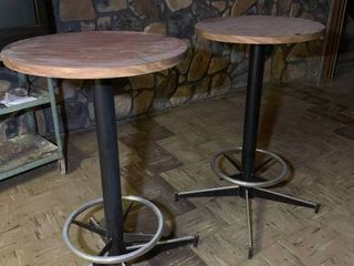 Lot of 2 High Top Tables 43