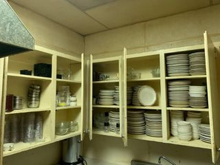 Cupboards Full of Buffalo China Dishes