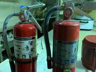 Lot of 2 Fire Extinguishers