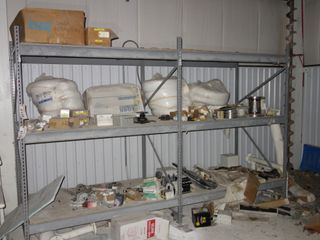 CONTENTS OF 2 SECTIONS OF RACKING, SOLENOID VALVES