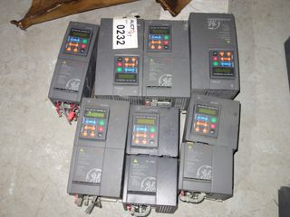 LOT OF 7 ASSORTED GENERAL ELECTRIC AV-300I DRIVES