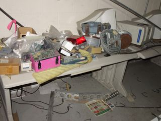 TABLE WITH CONTENTS, ASSORTED ELECTRICAL MRO