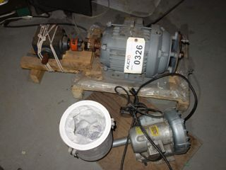 LOT OF 2 ASSORTED BLOWER & MOTOR, GE 5HP, J112X