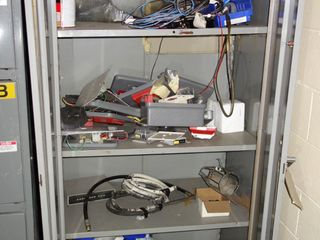 CABINET WITH CONTENTS, ASSORTED ELECTRICAL MRO
