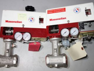 "LOT OF 2 MASONEILAN 28-28112 1"" 316 STAINLESS VALVE ACTUATOR"