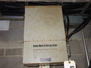 ACME T-53516-3 10KVA 480/120V-AC TRANSFORMER
