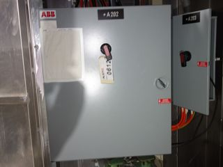 LOT OF 2 ASSORTED ABB CONTROL BOX PANELS