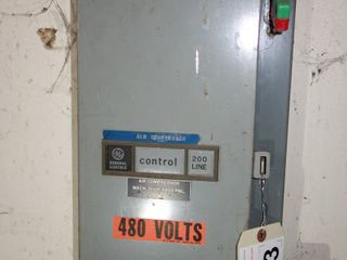 GE CR208B100BAA SIZE 0 FUSED COMBINATION STARTER DISCONNECT