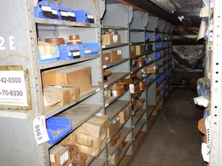 CONTENTS OF 7 SECTIONS OF SHELVING, HUBS, COUPLINGS