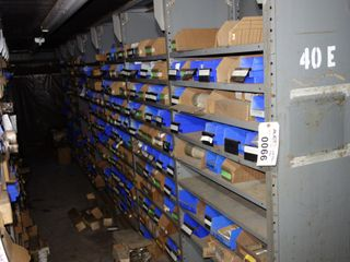 CONTENTS OF 7 SECTIONS OF SHELVING & FLOOR, FUSES