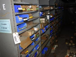 CONTENTS OF 7 SECTIONS OF SHELVING, FUSES, GE DRIVES