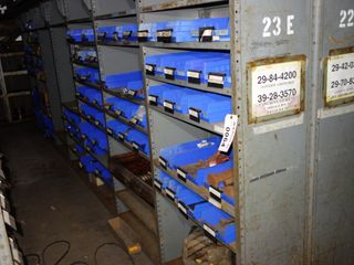 CONTENTS OF 7 SECTIONS OF SHELVING, BOLTS, COUPLINGS