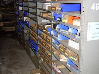 CONTENTS OF 7 SECTIONS OF SHELVING & FLOOR, MRO