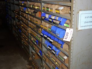 CONTENTS OF 7 SECTIONS OF SHELVING, ELECTRICAL MRO
