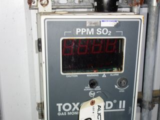 MSA TOXGARD II PPM SO₂ GAS MONITOR PANEL 120 V-AC