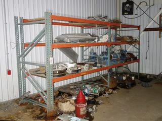CONTENTS OF 2 SECTIONS OF RACKING, VALVES, MOTORS