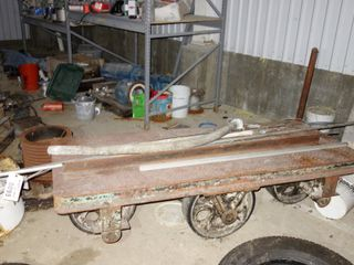 STEEL CART W/ CONTENTS