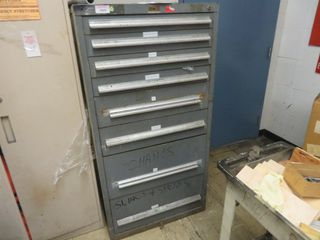 9 Drawer Tool Cabinet with contents