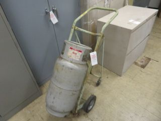 Empty Propane Tank and Cart