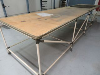 Metal Parts Tables on Wheels, (Lot)