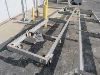 Aluminum Parts Storage Cart on Wheels