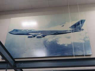 747 Picture, approx. 8' High and 12' Wide