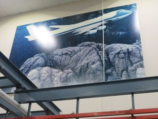 747 Picture over Mountains, approx. 8' High and 12' Wide