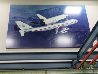 747 and Shuttle Picture, approx. 8' High and 12' Wide