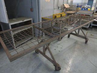 Large Metal Screen on Wheels