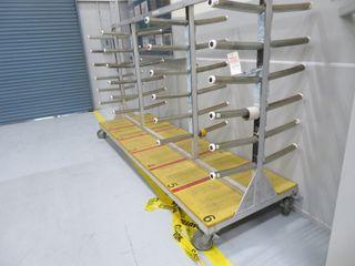 Aluminum Parts Storage Rack on Wheels